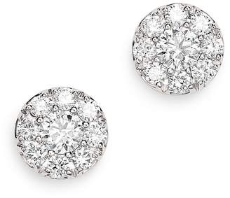 Bloomingdale's Diamond Cluster Halo Stud Earrings in 14K White Gold, 0.75 ct. t.w. - 100% Exclusive