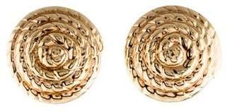 14K Coiled Rope Earclip Earrings
