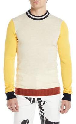 Calvin Klein Men's Colorblocked Wool-Blend Sweater