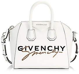 Givenchy Women's Mini Antigona Fuzzy Logo Leather Satchel