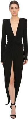 Alexandre Vauthier Knot Stretch Jersey Dress