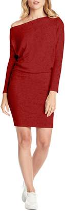 Michael Stars Madison One-Shoulder Ribbed Sweater Dress