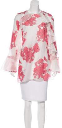Alice McCall Ruffle-Trimmed Floral Print Tunic