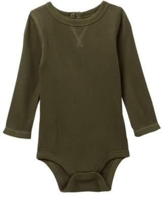Joe Fresh Waffle Long Sleeve Bodysuit (Baby Boys)