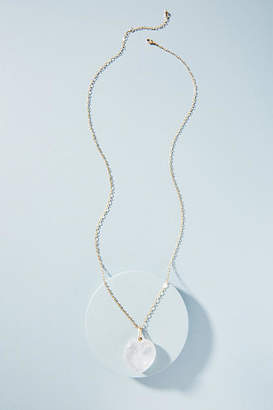 Anthropologie Glass Heart Necklace