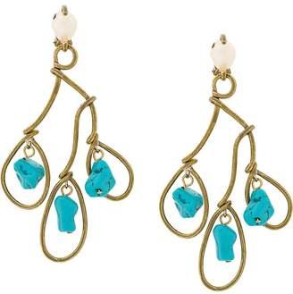 Marni stones chandelier earrings