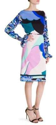 Emilio Pucci Marilyn Ruffle Sleeve Dress