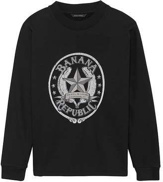 Banana Republic JAPAN ONLINE EXCLUSIVE French Terry Dolman-Sleeve Star Logo Sweatshirt