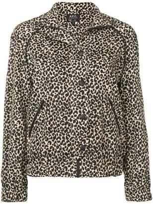 A.P.C. leopard print jacket