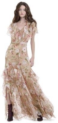 Alice + Olivia Cassidy Tiered Ruffle Maxi Dress