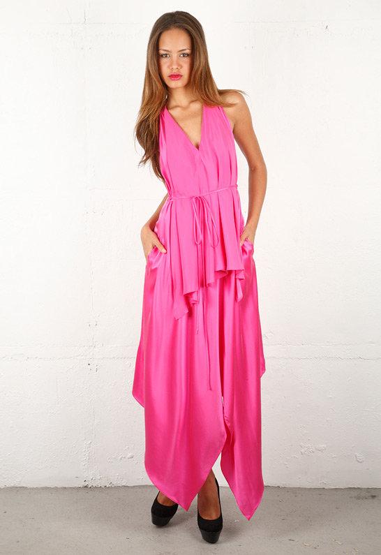 Handkerchief Dress in Hot Pink - by Robert Rodriguez