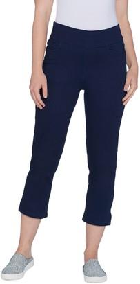 Denim & Co. Indigo Soft Stretch Smooth Waist Crop Jeans