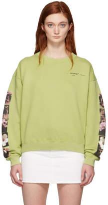 Off-White Green Flowers Pola Sweatshirt