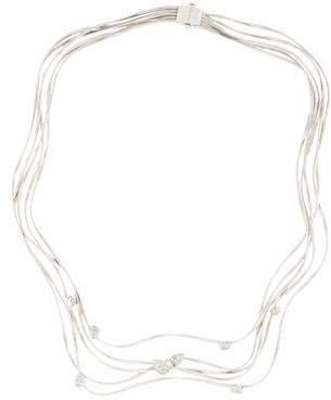 Marco Bicego 18K Multistrand Diamond Station Necklace