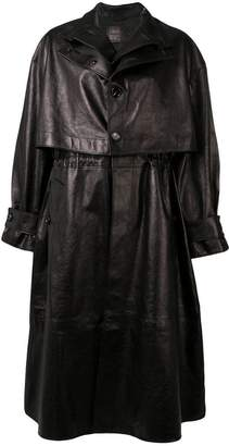 Bottega Veneta single-breasted leather trench coat