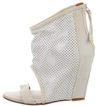 IRO Manela Perforated Wedge Sandals