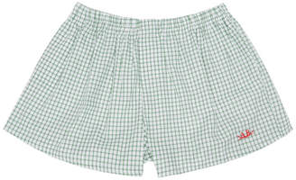 Anton Belinskiy Green Checkered Boxers