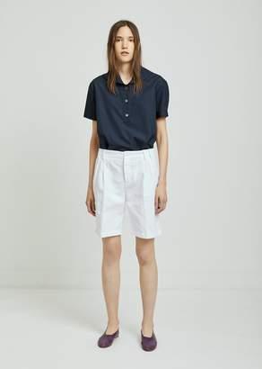 Aspesi Pleated Cotton Shorts