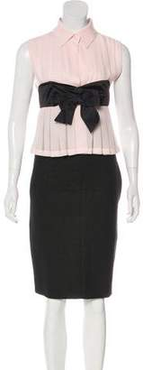 Chanel Wool-Blend Midi Dress