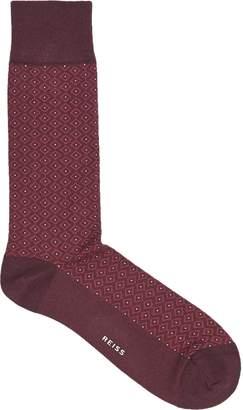 Reiss Alter Diamond Patterned Socks