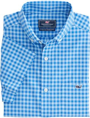 Vineyard Vines Short-Sleeve Cherokee Sound Plaid Classic Tucker Shirt