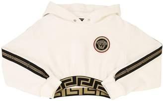 Versace Cropped Cotton Sweatshirt Hoodie