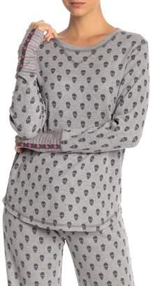 PJ Salvage Long Sleeve Skull Print Top