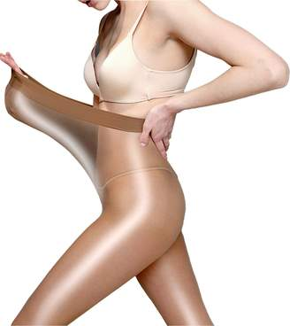 3908b237cba Metelam 8D Shiny Tights Shimmery Sheer Stockings Crotchless Dancing Plus  Size