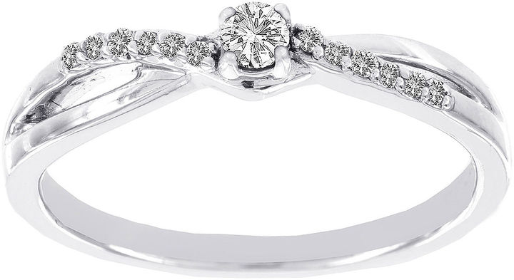 MODERN BRIDE Lumastar 1/7 CT. T.W. Diamond 10K White Gold Promise Ring
