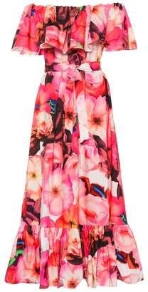 MSGM Floral cotton maxi dress