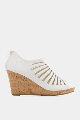 Ardene Cut Out Cork Heel Sandals