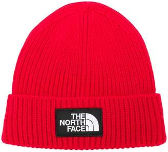 The North Face logo patch beanie