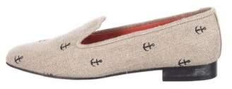 Stubbs & Wootton Woven Round-Toe Loafers