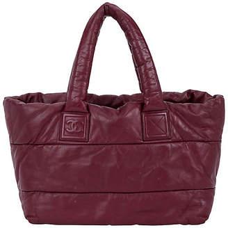 One Kings Lane Vintage Chanel Burgundy Leather Coco Cocoon Bag - Vintage Lux
