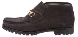 Gucci Horsebit Loafer Ankle Boots