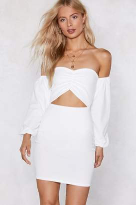 Nasty Gal I'm Cut-Outta Love Off-the-Shoulder Dress