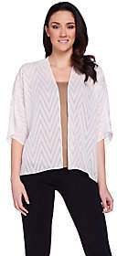 Joan Rivers Classics Collection Joan Rivers Sheer Chevron Pattern Shrug