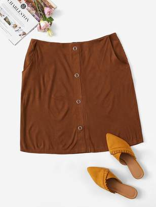 269c040168 Shein Brown Plus Size Skirts - ShopStyle