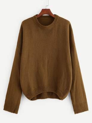 Shein Plus Drop Shoulder Solid Sweater