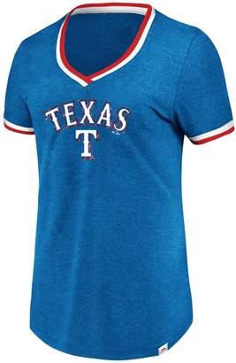 Majestic Women's Texas Rangers Stripe Trim Tee