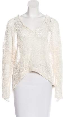 Brunello Cucinelli Perforated Long Sleeve Top
