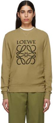 Loewe Beige Anagram Sweatshirt