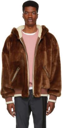 Dolce & Gabbana Brown Teddy Bear Hoodie