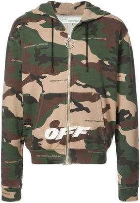 Off-White camouflage print hoodie