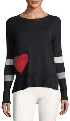Lisa Todd Heartthrob Cotton-Cashmere Sweater, Petite