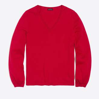 J.Crew Factory Balloon-sleeve V-neck sweater