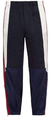 Givenchy Side Striped Cotton Track Pants - Mens - Navy