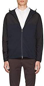 Theory Men's Tech-Fabric and Cotton Terry Hooded Jacket - Navy