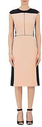 Narciso Rodriguez WOMEN'S COLORBLOCKED WOOL TWILL SHEATH DRESS - BLACK/LT PINK SIZE 44 IT