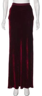 Nili Lotan Velvet Maxi Skirt